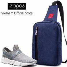 Combo Túi Messenger Thời Trang Glado DCG026BU + Giày Sneaker Nam GS084 (Xám) - CB125