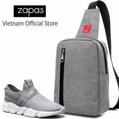Combo Túi Messenger Thời Trang Glado DCG026GR + Giày Sneaker Nam GS084 (Xám) - CB125