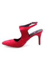 Giày bít mũi nhọn hậu Xăng đan Senta STB48 (Đỏ)