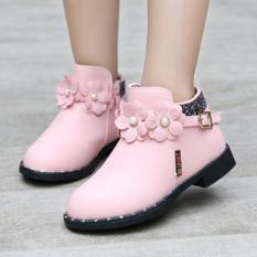 Giày Bốt Bé Gái Z-18 (Hồng)
