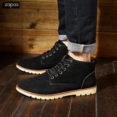Giày Bốt Nam Da Lộn Thời Trang Zapas - GB045 (Đen)