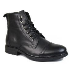 Giày cao cổ nam phong cách SMARTMEN GD2-07 (Đen)