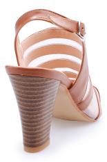 Giày cao gót dây phối lưới Senta YL02 (Bò)
