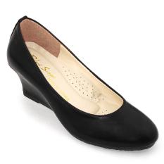 Giày Đế Xuồng 5cm Om Fashion 2323 (Đen)