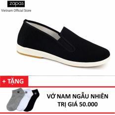 Giày Lười Nam Thời Trang Zapas GL011 ( Đen ) + Tặng Vớ Nam Ngẫu Nhiên
