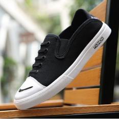 Giày lười vải nam New01 L&A Fashion (Xám)