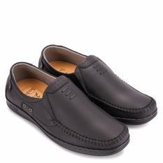 Giày mọi nam da bò SunPoLo LS2098D (Đen)