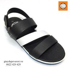 Giày Sandal 3 quai ngang nam thời trang Everest - EVE01 (Đen phối trắng) D37