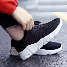Giày sneaker nữ siêu nhẹ và thoáng khí mới nhất - HAPU (đen)