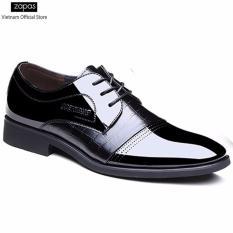 Giày tây Zapas công sở dây cột – GT018 (Màu Đen)