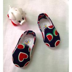 Giày Vải Hình Dưa Hấu Xinh Cho Bé