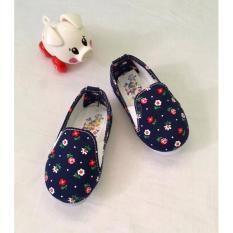 Giày Vải Hoa Xinh Xắn Cho Bé