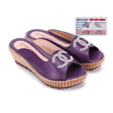 HL7078 - Giày nữ Huy Hoàng đính nơ màu tím