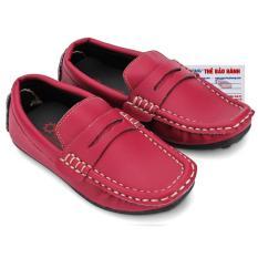 HL7814 - Giày KIDS mọi nam Huy Hoàng màu nâu đỏ phối đá