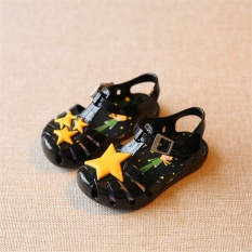 Prince Star Jelly Cooler Baby Girl Shoes Girls Sandals (Black) - intl