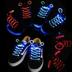 Stunning Flash Light Glow Shoelaces Shoe Lace - intl