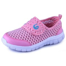 Summer Breathable Mesh Shoes Childrens Shoes (Pink)
