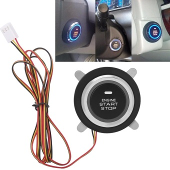 12V Universal Car Engine Push Start Stop Button Ignition RemoteStarter - intl