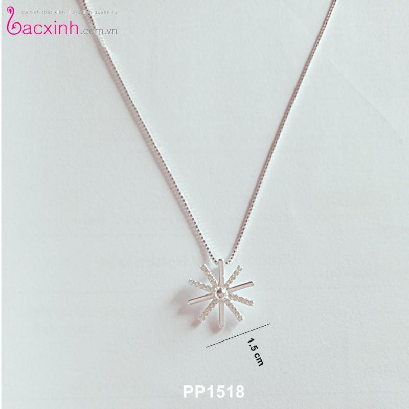 Bộ dây chuyền liền mặt trang sức bạc Ý S925 Bạc Xinh - Hậu duệ mặt trời PP1518