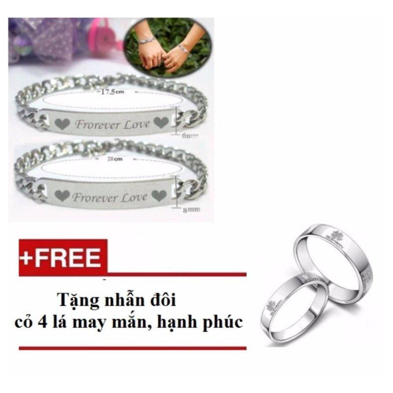 Bộ lắc tay đôi forever love FL005 ( tặng kèm nhẫn be happy)