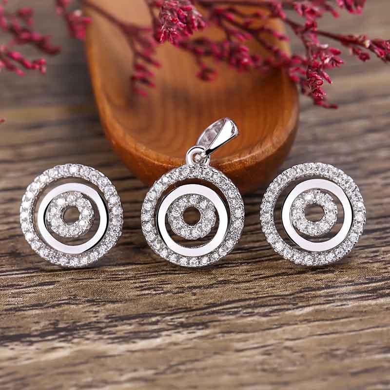 bộ trang sức bạc Aureli Love | Eropi