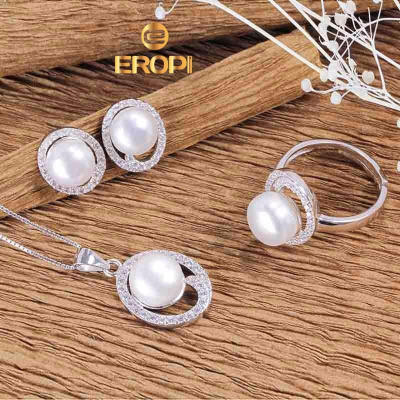 Bộ trang sức bạc Wonderful Pearl - Eropi Jewelry