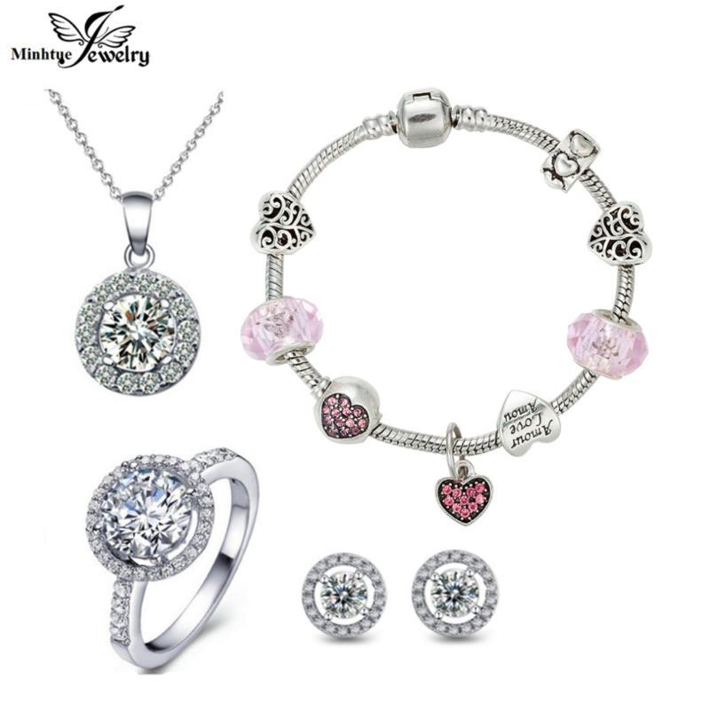 Bộ trang sức vòng tay charm thời trang MTJ265
