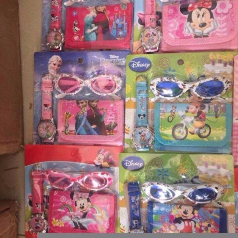 Giá bán Combo 3 món mắt kính, ví, đồng hồ dễ thương cho bé