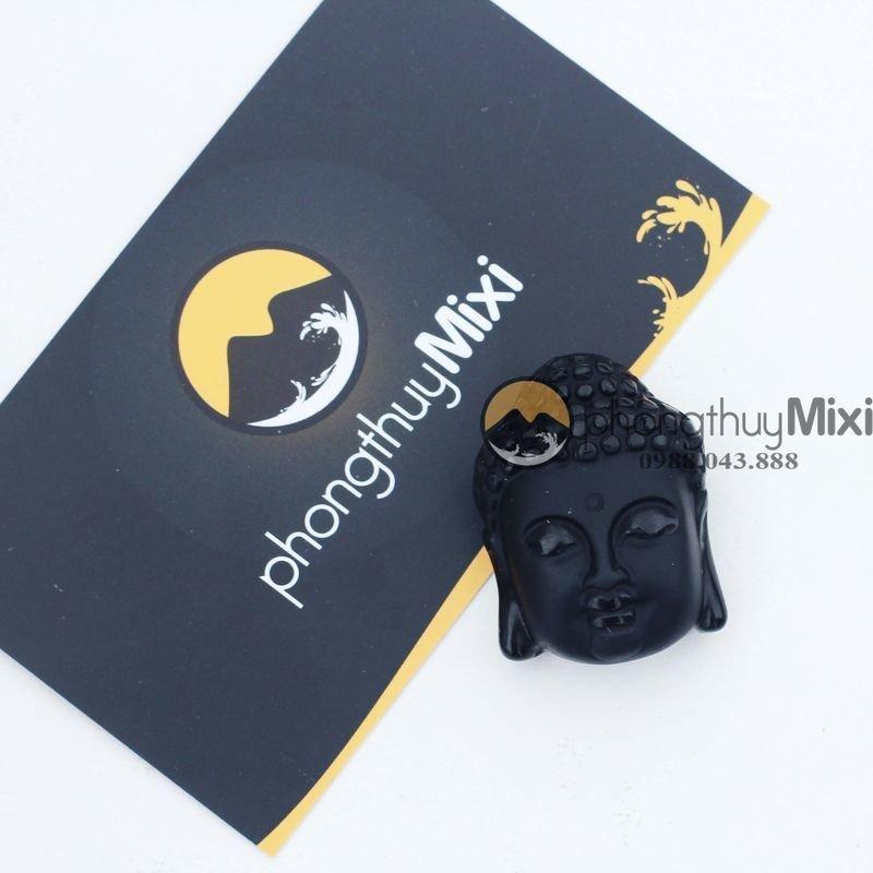 Dây Chuyền Mặt Phật Thiên Thủ Bồ Tát Đá Obsidian Khói