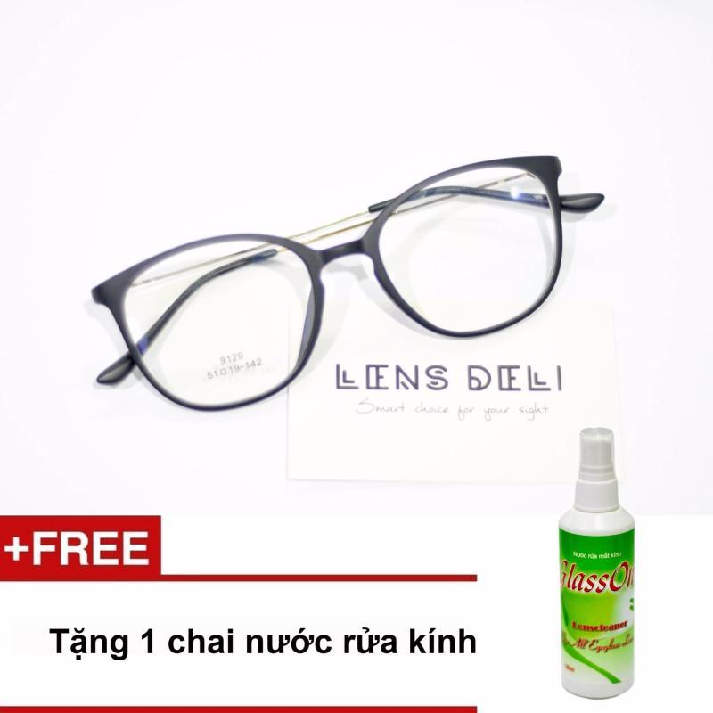 Giá bán Gọng kính mỏng nhẹ LENS Deli + Tặng 1 chai nước rửa kính Glassone