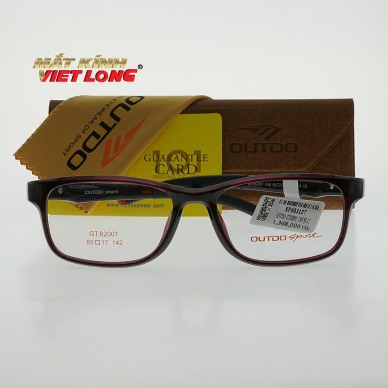 Giá bán Gọng kính Outdo GT62001-C45 55-17 (Gọng nhựa khung màu đỏ rượu)