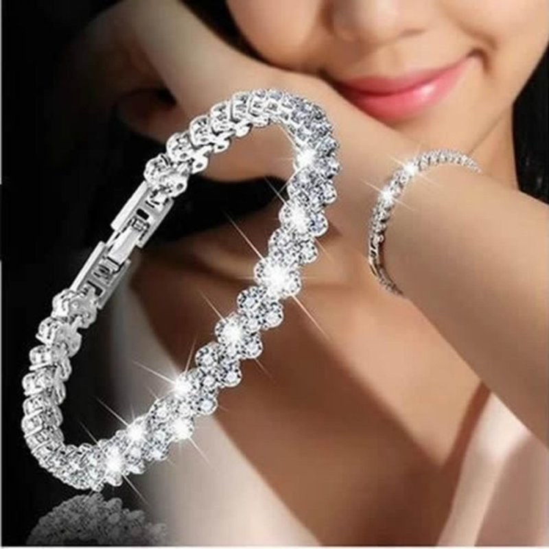 Imixlot Fashion Charm Crystal Plated Women Lady Jewelry Bangle/Bracelet - intl