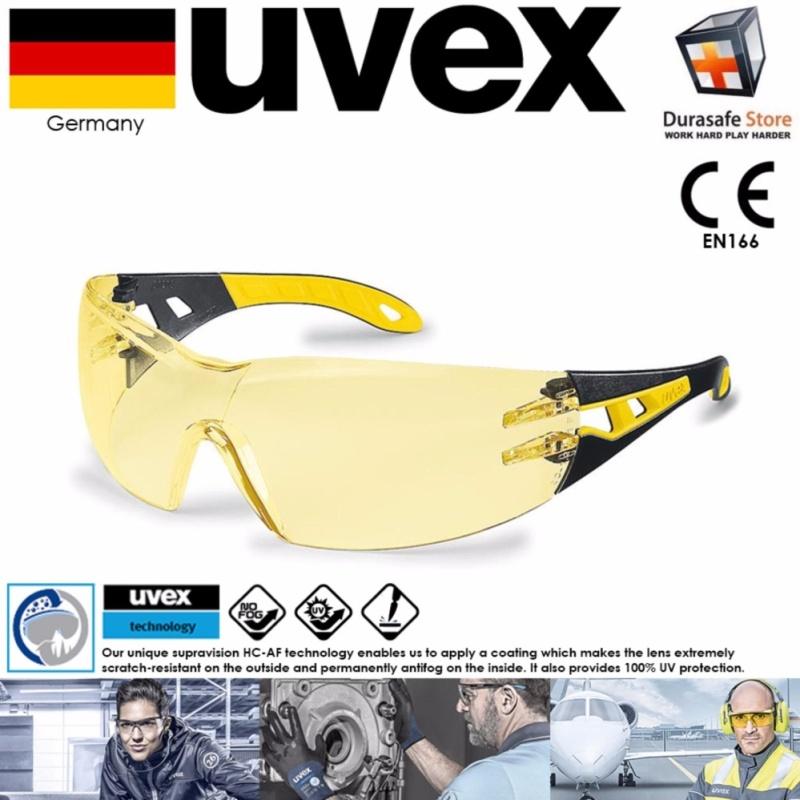 Mua Kính bảo hộ UVEX 9192385 Pheos Gọng Đen/Vàng Amber Supravision HC-AF Len