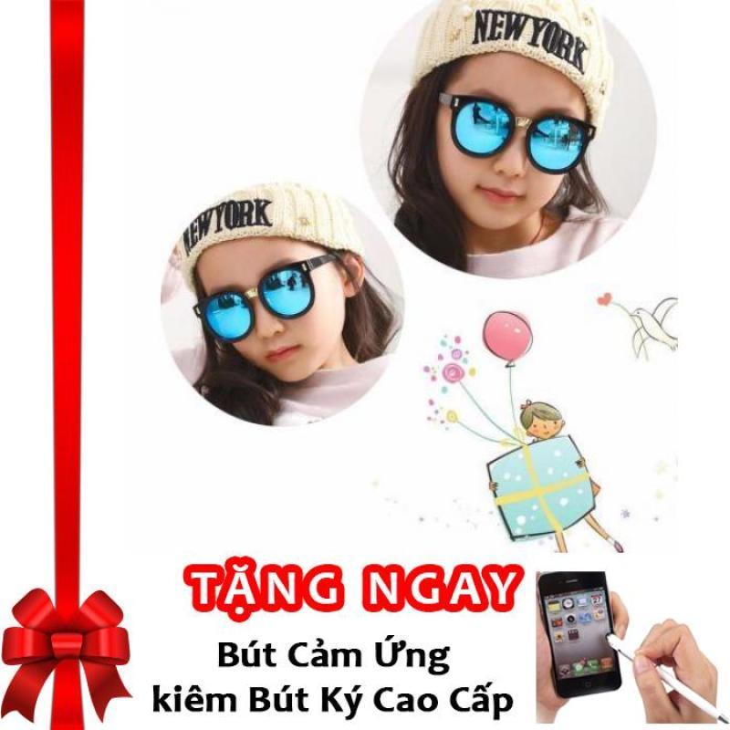 Giá bán Kính mát cho bé chống tia UV phong cách Hàn Quốc 2016 Korea kids F653 (Xanh) + Tặng bút cảm ứng kiêm bút ký
