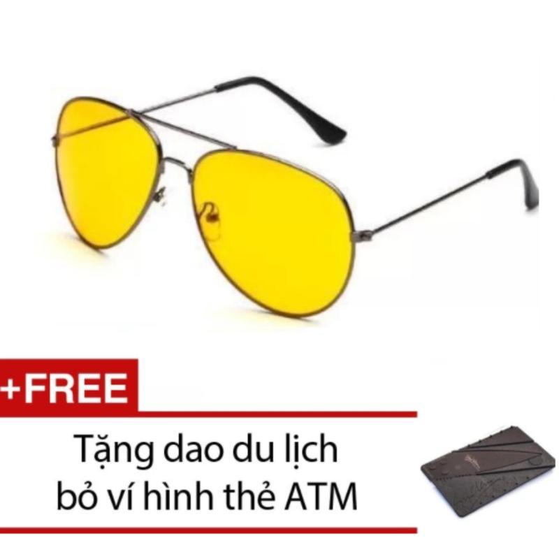 Giá bán Kính mắt ngày và đêm thời trang Thiên Ân (Vàng) + Tặng 1 dao du lịch thẻ ATM