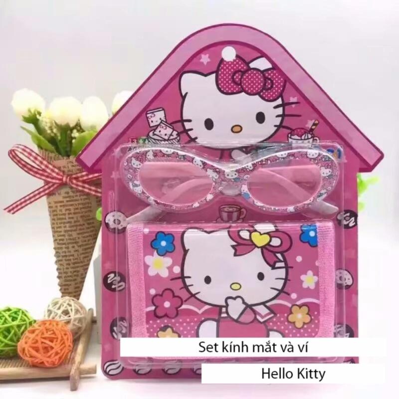 Mua Kính mát tặng kèm ví Hello Kitty dễ thương cho bé gái MLS.1052