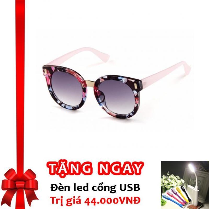 Mua Kính Mát Thời Trang chống tia UV Cho Bé Korea Kids F118 (Hồng Hoa) + Tặng đèn LED cổng USB