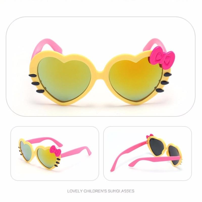 Mua Kính râm chống tia UV hình trái tim cực yêu cho bé (màu vàng) SYT.1046