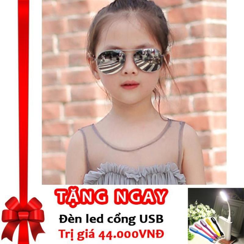 Giá bán Kính thời trang phản quang cực chống tia UV siêu đáng yêu cho bé Korea Kids 2017 F171 (Sao thủy) + Tặng đèn LED cổng USB