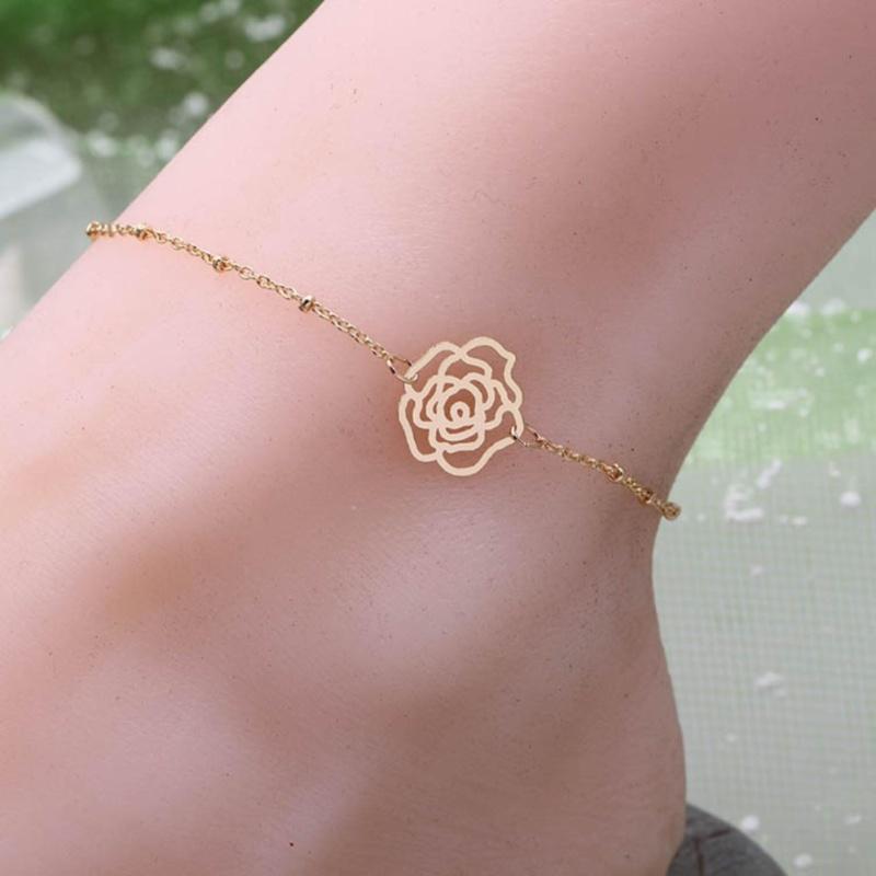 Lắc chân nữ hoa hồng phong cách Hàn Quốc