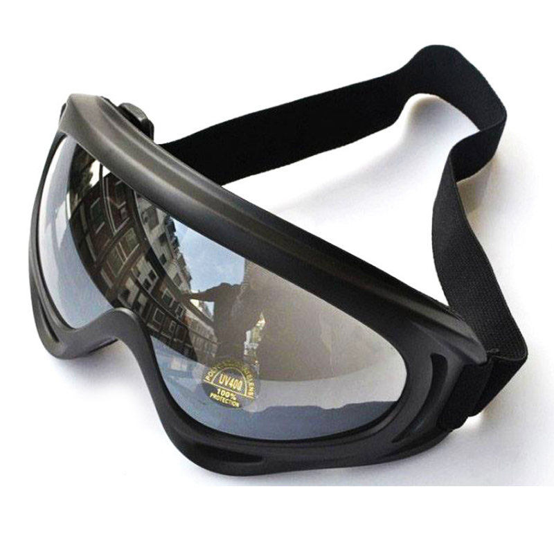 Mua Mắt kính đi phượt chống bụi, chống tia UV (gọng Đen, kính trong)