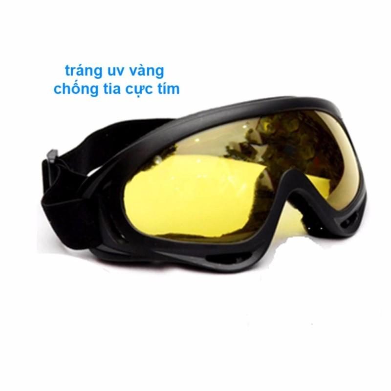 Mua Mắt kính đi phượt chống bụi, chống tia UV (Tráng UV Vàng Trong)