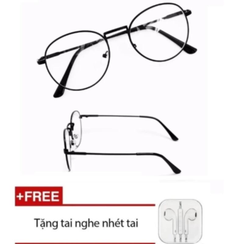 Giá bán Mắt kính ngố giả cận Nobita PA01 (đen) + Tặng kèm Tai nghe nhét tai
