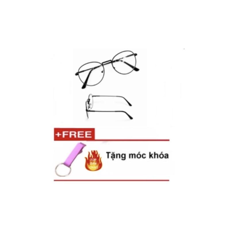 Giá bán Mắt kính ngố gọng cận Nobita thời trang (đen) +Tặng móc khóa khui nắp chai