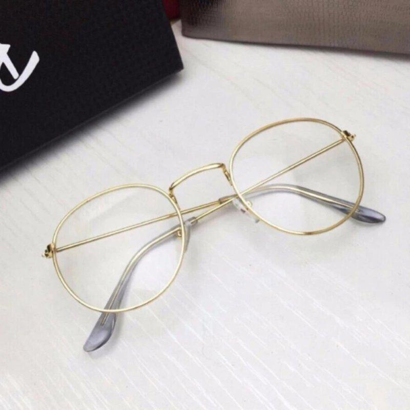 Mua Mắt kính ngố thời trang nam nữ cao cap 102 (Vàng)