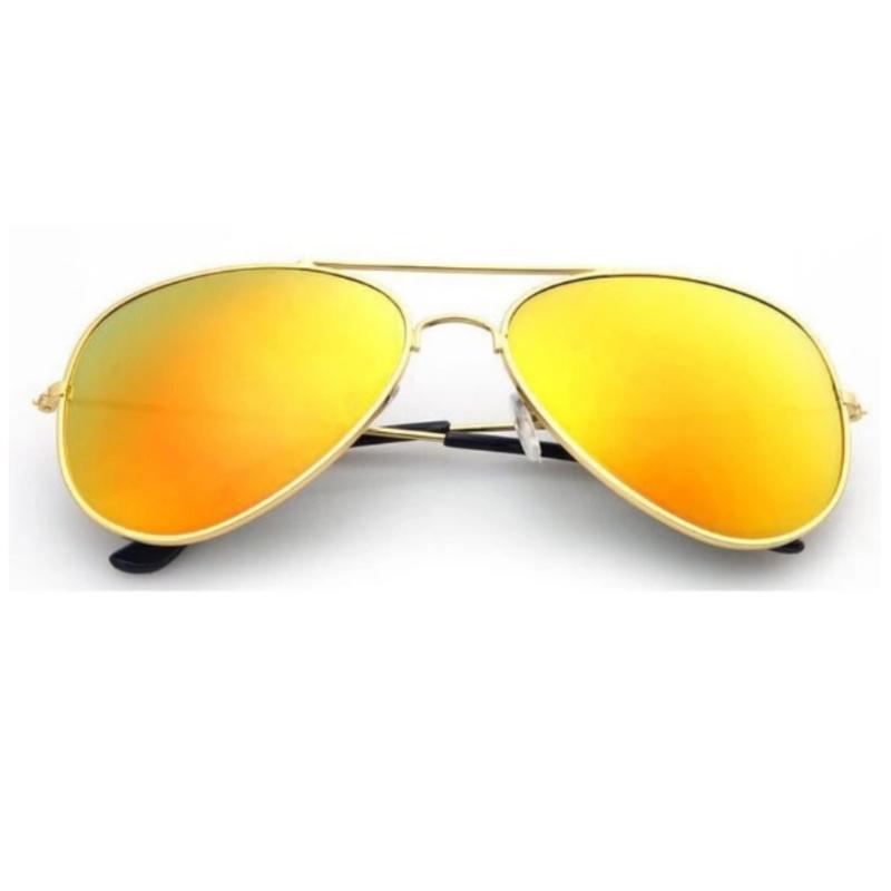 Mua Mắt kính tráng gương phản quang thời trang nam nữ (Vàng đồng)