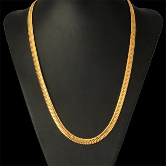 Men's 24 inches 5.5mm Width 18k Gold Plated Snake Necklace, 60cm - intl
