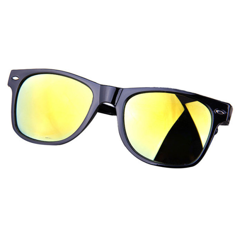 Mua Retro Aviator Sunglasses Eyewear Mirrored Lens Mirror Sunglasses Light Yellow