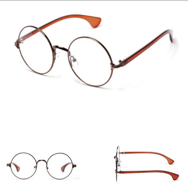 Mua Round Metal Frame Glasses Decorative Glasses-Silver - intl