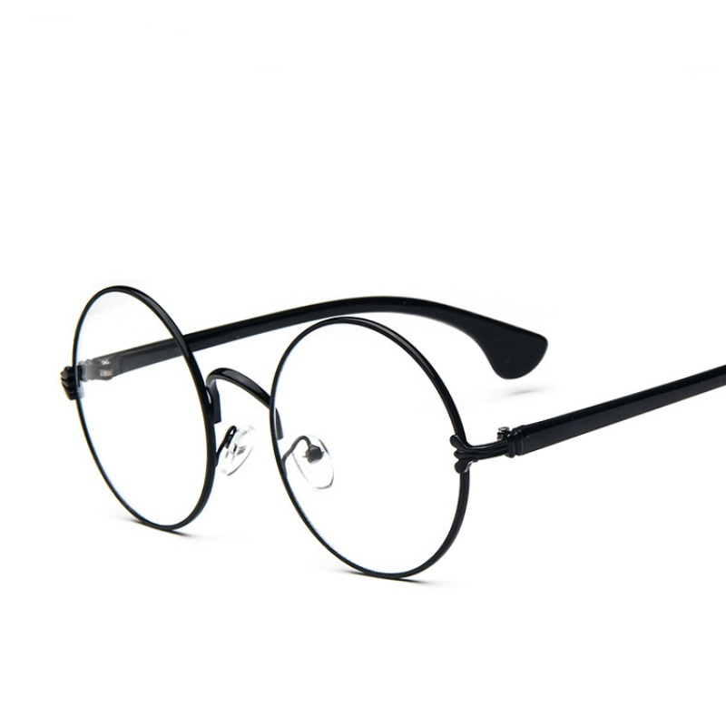 Mua Vintage Style Cute Round Shape Metal Frame Optical Glasses-Silver - intl